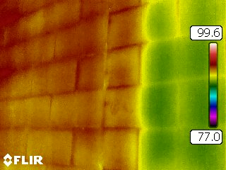 Infrared Blockwall Scan