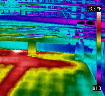 Infrared scan of beam support