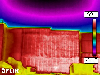Thermal imaging of wall and ceiling