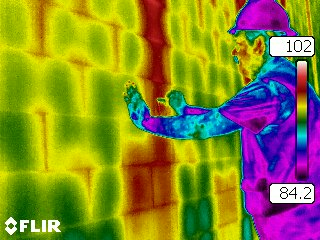 Thermal infrared grout scan